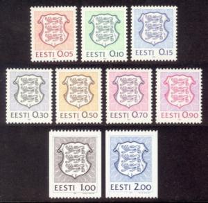 Estonia Sc# 200-8 MNH National Coat of Arms Definitives