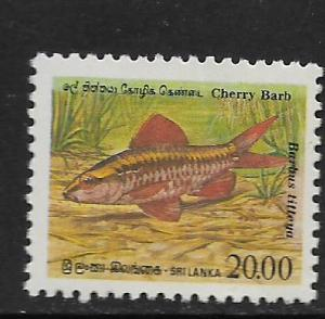 SRI LANKA, 980, MNH, CHERRY BARB FISH