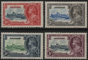 ASCENSION-1935 Silver Jubilee Set Sg 31-34 AVERAGE MOUNTED MINT V40338