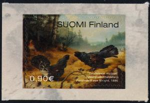 Finland 1189 MNH Birds, Fighting Wood Grouses, Art