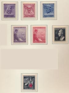 Bohemia and Moravia Stamps Scott #B15-21, Mint Never Hinged, 1942-3 Semi-Post...