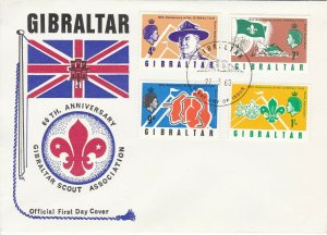 SC19) Gibraltar 60th Anniversary of Scouts Association, cachet cover,