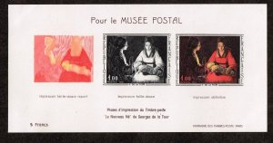 FRANCE STAMP France & Colonies  1966 French Art  MNH IMPERF S/S