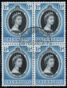 UK STAMP BERMUDA USED BLK OF 4 STAMPS  COLLECTION LOT #5 XFS