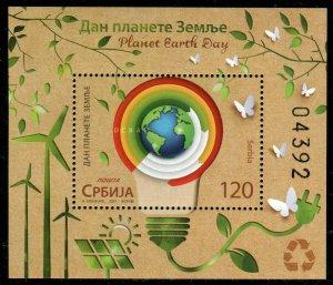 1605 - SERBIA 2021 - Planet Earth Day  - MNH Souvenir Sheet