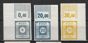 Germany East Saxony 15N3, 12, 14 Numerals Part set MNH
