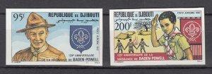 DJIBOUTI SC# C163-C164 SCOUTING YEAR 1982 - MNH - IMPERF
