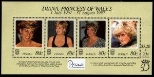 Tuvalu - Sc #762 S/S of 4 - Princess Diana in Memoriam 1998 - MNH