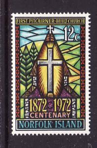 Norfolk Is.-Sc#151-Unused NH set-Church Centenary-Stained Glass-1972-