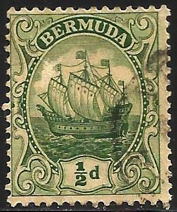 Bermuda 1922 Scott# 82 Used WMK 4