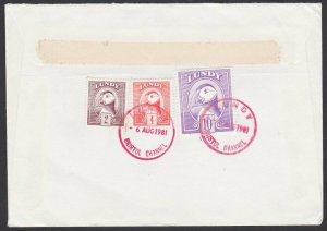 GB LUNDY 1981 cover  - Puffin stamps........................................F885