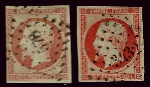 France SC#18 & 18a Used F-VF hr SCV$26.00...Worth a Close look!!