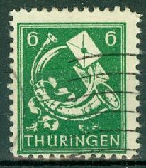 Germany - Russian Zone - Thuringia - Scott 16N4
