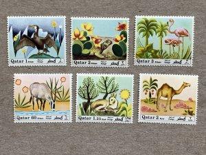 Qatar 1971 Animals, Birds, MNH. Scott 238-243, CV $71, Michel 445-450, CV €60