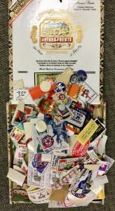 Hundreds of Patriotic Poster Stamps, Advertising labels  Foil, die cut, HUGE LOT