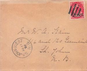 Canada, Scott #88, Used on 1899 Cover, Local Use within St. John, Newfoundland