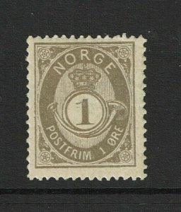 Norway SC# 36, Mint Hinged, Hinge Remnants - S9372