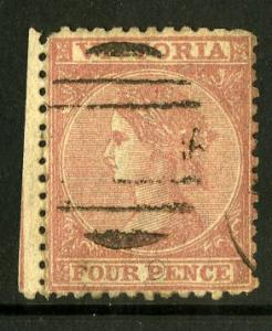 VICTORIA 91 USED (ROSE RED) PERF 12 SCV $9.50 BIN $3.50 ROYALTY