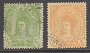 GUATEMALA  An old forgery of a classic stamp x 2............................D823