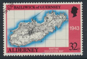 Alderney  SG A40  SC# 40   Bastides Maps Used First Day Cancel - as per scan