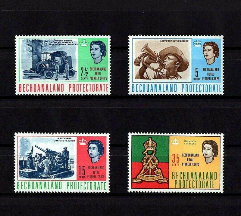 BECHUANALAND - 1966 - QE II - WW II - PIONEERS & GUNNERS - MINT - MNH SET!