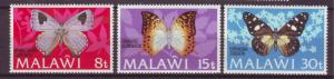 J17782 JLstamps 1973 malawi part of set mh #200-02 butterflies