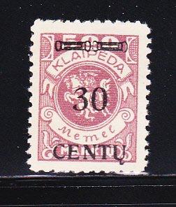 Memel N49 MNG Lithuanian Occupation
