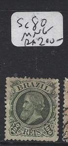 BRAZIL (PP1702B) DOM PEDRO 100R SC 80   MNG
