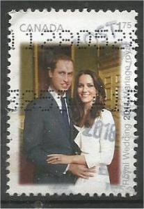 CANADA, 2011, used $1.75, Royal wedding, Scott 2467