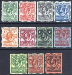 Falkland 1929 1/2d-£1 Whale&Pengn  SG 116-126 Sc 54-64 LMM/MLH Cat £700($880)