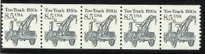 2129 8.5c Coil Strip of 5 with Pl#1 MNH F/VF Centering