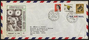 wc037 Australia Currency change Feb. 14, 1966 FDC first day cover with letter