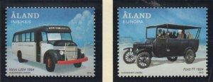Aland Finland Sc 335-36 2012  Public Transportation stamp set  mint NH