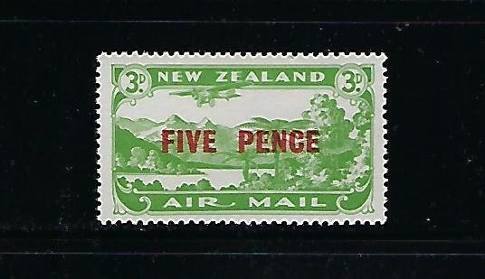 NEW ZEALAND SCOTT #C4 1931 SURCHARGE 5P ON 3P - MINT NEVER HINGED