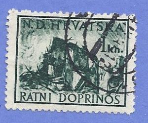 Croatia Scott #RA3 Ruins CV $0.25 Used