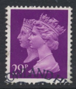 GB  SG 1472  SC# MH196 Machin double head 29p Used  2 bands  detail / scan