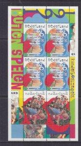 NETHERLANDS, 1991 Child Welfare set of 3 & souvenir Sheet, mnh.