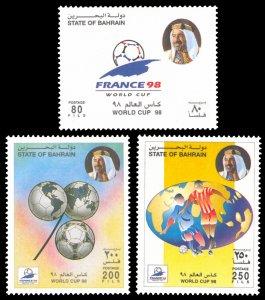 Bahrain 1998 Scott #511-513 Mint Never Hinged