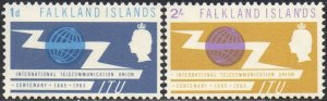 Falkland Islands 1965 I.T.U. Centenary MH