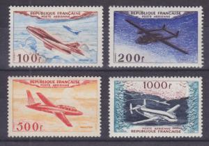 France Sc C29-C32 MNH. 1954 Airplanes cplt VF