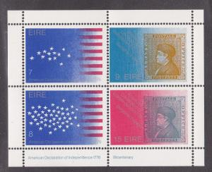 Ireland #  392b, U.S. Bicentennial,  NH, 1/2 Cat.