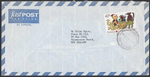 TONGA 1987 42s Christmas on 1992 airmail cover to NZ........................H935