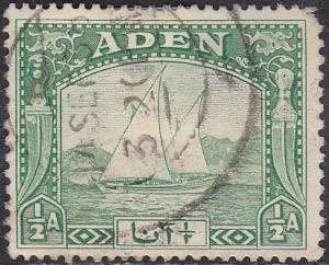 Aden 1 Hinged Used 1937 Dhow