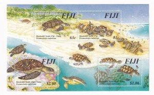 FIJI HAWKSHILL TURTLES MNH S/SHEET