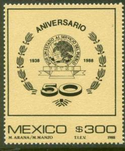 MEXICO 1576 50th Anniversary of the State Workers Union MINT, NH. VF.