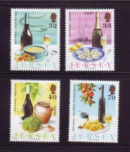 Jersey  Sc 1152-5 2005 Europa Gastronomy stamp set mint NH
