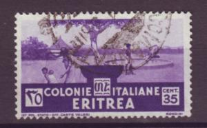 J21255 Jlstamps 1934 eritrea a hv of set used #163 scene