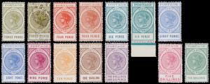 South Australia Scott 121-130 (1902-03) Mint/Used H F-VF, CV $627.75 M