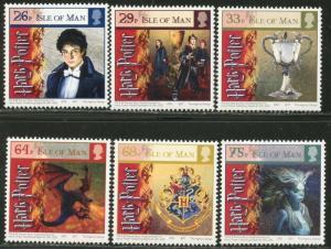 ISLE OF MAN Sc#1121-26 2005 Harry Potter Goblet of Fire Complete Set OG Mint NH