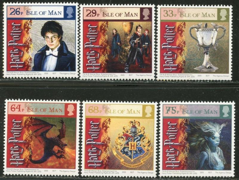 ISLE OF MAN Sc#1121-26 2005 Harry Potter Goblet of Fire Complete Set OG Mint NH